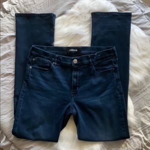 Express barely boot dark wash stretch jeans